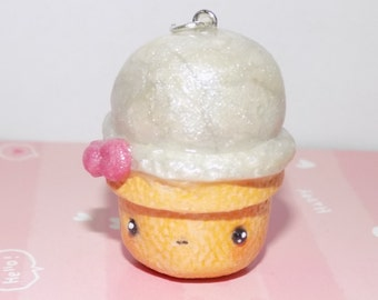 Kawaii Ice Cream Necklace Clay Charm Necklace