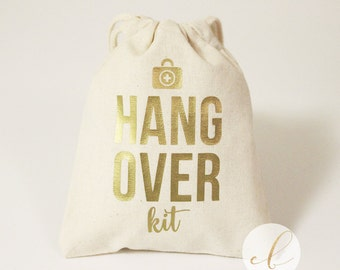 "Set of 10, 12, 15, 5""x6"" or 8""x 10"" Hangover Kit Favor Bags //Bachelorette Party Hangover Kit // Wedding Hangover Kit Bags"