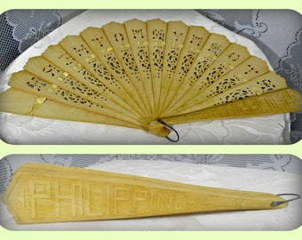 Wooden hand fan, Hand carved hand fan, Wooden carved hand fan, , Handcrafted carved wood, Wooden fan, Vintage hand fan