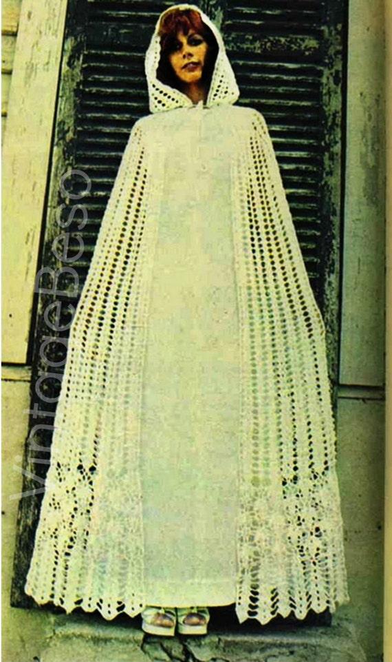 hooded cloak crochet pattern vintage 1970s cape crochet. Black Bedroom Furniture Sets. Home Design Ideas