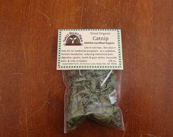 Dried Catnip Herb packet, 1/8 oz.
