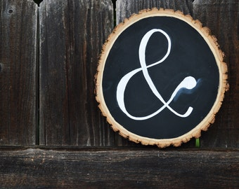 Rustic Ampersand Sign