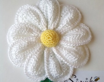Headband big crochet flower stretchy elastic baby headband hair band Handmade flower headband