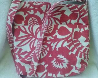 Pink White bag, pink white tote, pink white tote bag, purse, tote, tote bag, leaf tote, leaf tote bag, leaf over the shoulder bag