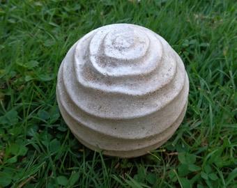 Garden ball - Concrete sphere - Concrete ball - Concrete paper weight - Garden decor - Concrete garden - Fairy garden accessories
