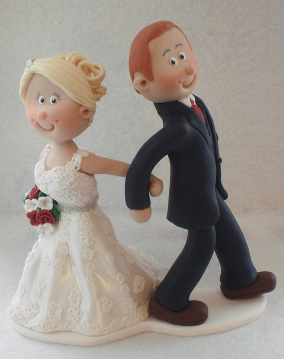 Bride And Groom Wedding Cake Topper Personalised Custom