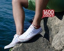 Mens ankle bracelet - Ankle bracelet men with unique copper clasp. 1600 colors - pick up to match the shoes!