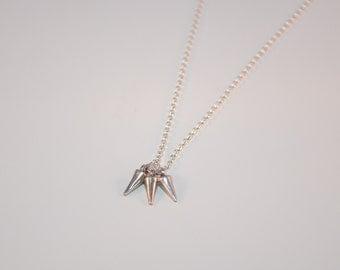Spike Necklace - Stud Necklace - Sterling Silver Necklace - Punk Rock Necklace - Rebel Necklace - Geometric Necklace