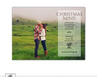Christmas Mini Session Template, Holiday Mini Session Template, Photography Marketing Board, Photoshop PSD Template- s535