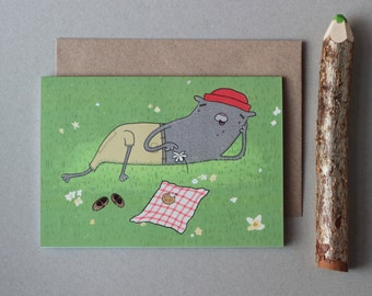 ON SALE Spring picnic greetings card
