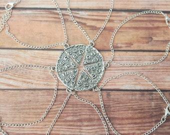 Whole Pizza Bracelet Set, Pizza Friendship Bracelets, BFF Bracelets, Pizza Slice Bracelets, Friendship Gift, Matching Bracelets, Six Friends