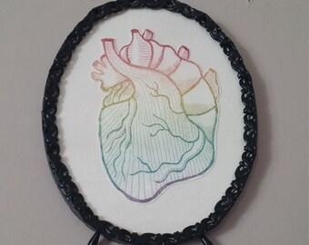 Rainbow Ombre Heart - Intaglio Print