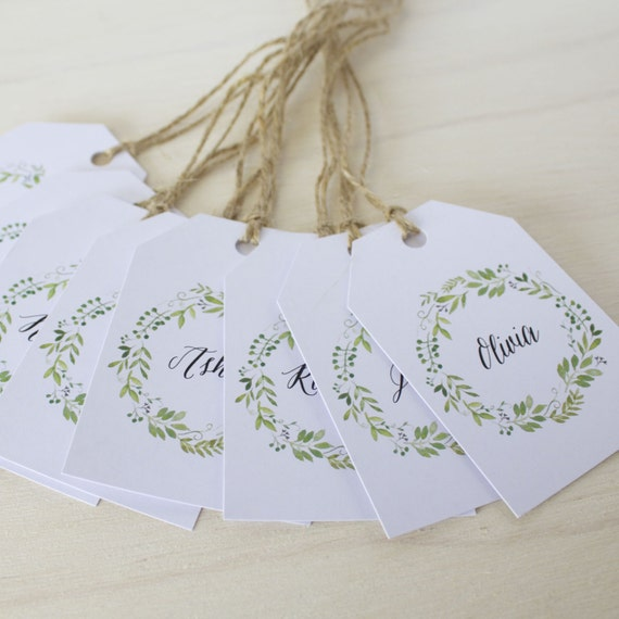 Wedding Gift Name Tags : Guest Name Tags / Wedding Guest Tags / Place Card Tags / DIY Tags ...