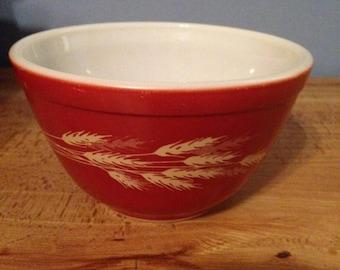 Vintage Pyrex Autumn Harvest Mixing Bowl #401