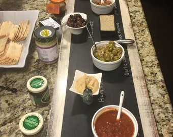 Extra Large Chalkboard Serving Tray, Wine and Cheese board