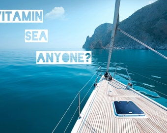 Vitamin Sea Poster - Ocean Tides Matte Art Print