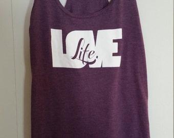 LoveLife Purple Racerback