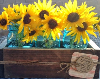 Rustic Wood Box Centerpiece