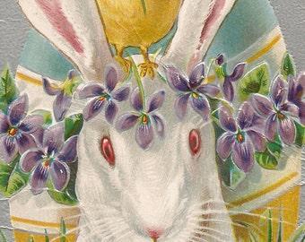 Vintage Easter Postcard Digital download clip art 300dpi digital image