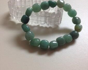 HEALING, Reiki, Meditation, Spiritual Jewelry, Green Aventurine Nugget Bracelet