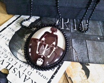 Life and Death Cabochon Necklace