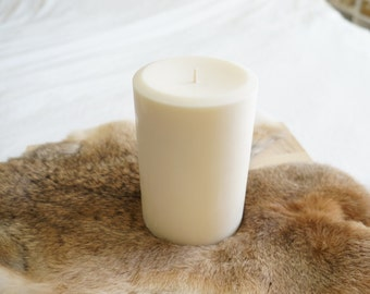 4'' x 6'' Soy Pillar Candle, Choose Your Scent/Unscented and Color