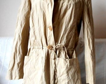 Designer Trenchcoat, jacket by Betty Barclay in Beige, Designer Women Clothes
