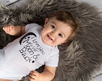 I Love You to the Moon and Back Onesie/Shirt (0-24 months) (@T-7/8)