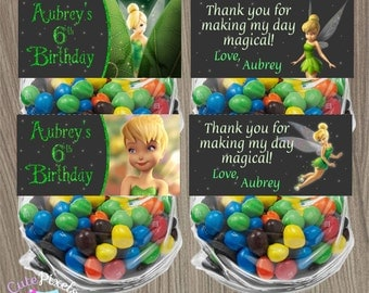Tinkerbell Bag Toppers, Tinkerbell Goodie Bags, Tinkerbell Treat Bags, Tinkerbell Birthday, Tinkerbell Party, Disney Fairies, Bag Toppers