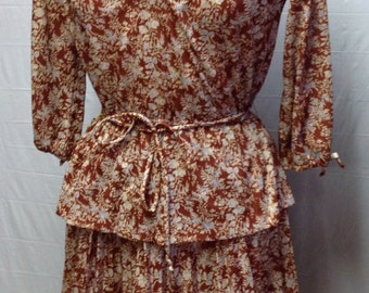 Patterned Vintage Dress