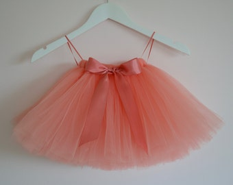 tutu, girls tutu, Flower Girl tutu, coral tutu, flower girl dress, bridesmaid tutu, baby tutu, tulle skirt, bridesmaid tutu dress