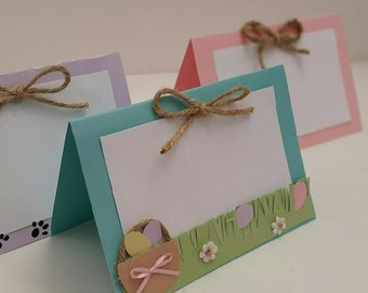 Set of 3 Easter Food Tents. Easter Place Cards. Easter Basket Labels. Easter Party Decorations. Easter Cards.