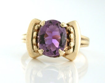 Art Deco Amethyst Estate Ring from the 1940s