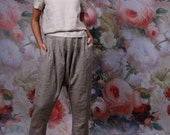 LINEN pants / Loose womens trousers / Casual loose linen wide leg pants