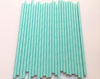 SOLID LIGHT BLUE Paper Straws/Party Straws/Party Decor/Wedding Straws/Gender Reveal/Drinking Straws/1st Birthday Decor/Baby Shower Decor