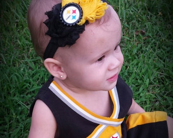 Pittsburgh Steelers Baby Headband!!! Customized just for you!!!
