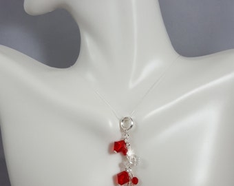 Set with Post Earrings and original pendant, Swarovski Crystals,