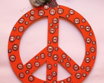 Pumpkin Peace Sign