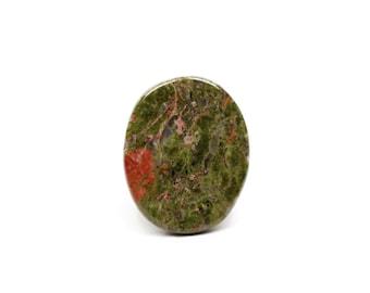 CLOSING SALE 28x22x5mm Natural Unakite Cabochon - Green Gemstone Cabochon, Wholesale Gemstone Green Cabochon, Unakite Stone Cabochon