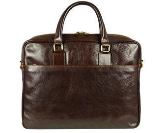 Genuine leather briefcase for men, Messenger bag, Laptop Bag - The Little Prince