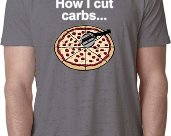 How I Cut Carbs Mens Burnout Tee T-Shirt CARBS-NL6110