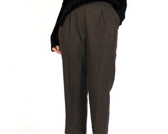 aeneous tweed pant / high waisted / crop trouser with pockets