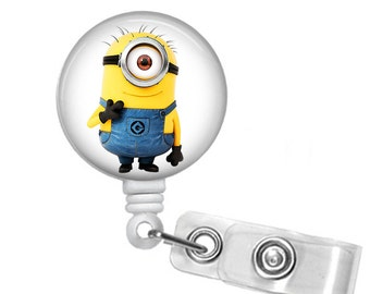 Minion Smile ID Badge holder, retractable badge reel