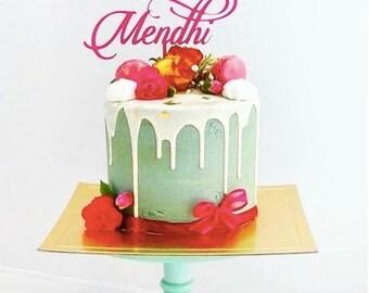 Handmade Mendhi  Cake Topper
