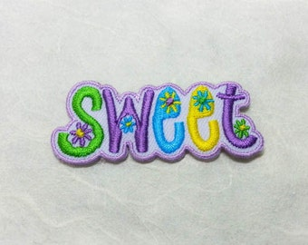 Sweet Text Iron on  Patch - Text - Words - Message Iron On Patch Embroidered Applique Size 5.6x 2.6 cm