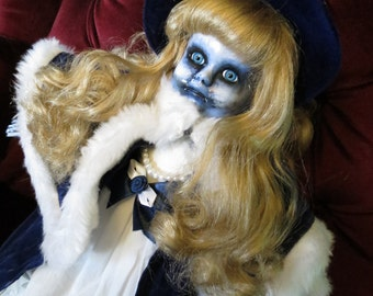 OOAK-Gothic-Zombie-Undead-Vampire-Creepy-Hand-Painted-Porcelain-Doll-Victoria
