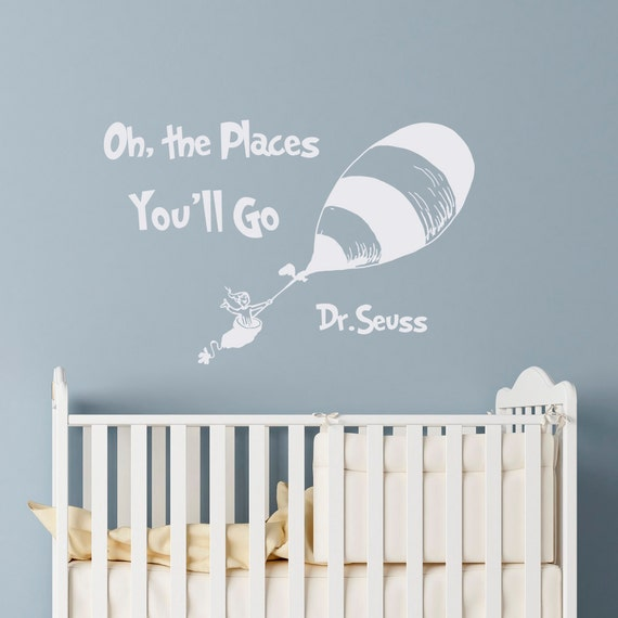 ... Dr Seuss Wall Decals Oh The Places You Ll Go ...