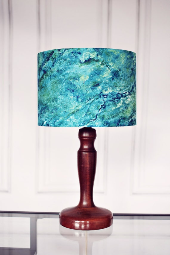 Lamp shade sale blue marbled lampshade blue home decor Home decorators lamp shades
