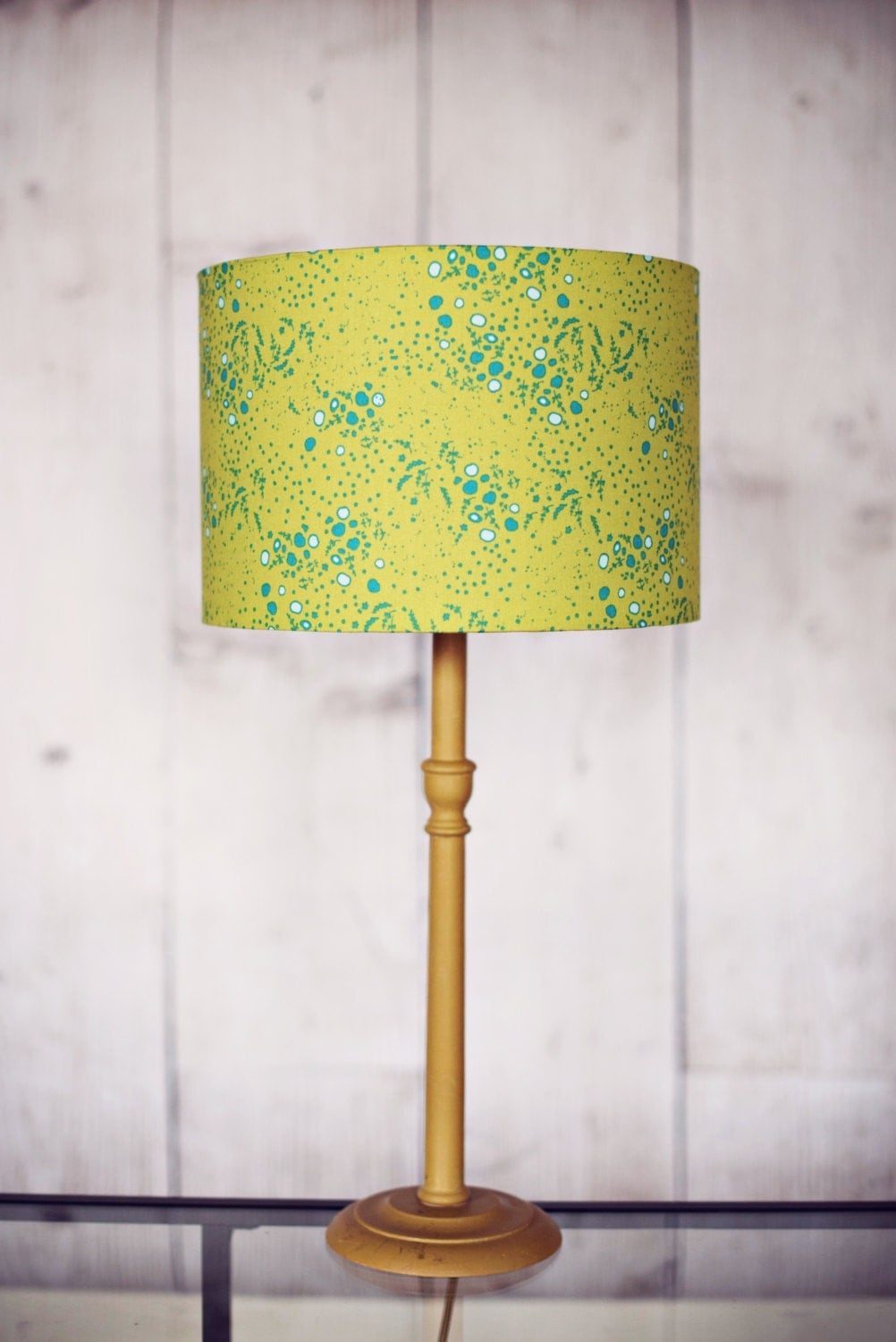 Green lamp shade green home decor fall decor table lamp