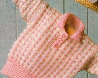 Children's Jumper Knitting Pattern - 16 to 24 inches - DK yarn